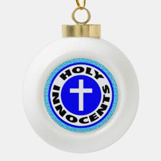 Holy Innocents Ceramic Ball Christmas Ornament