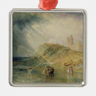 Holy Island, Northumberland, c.1820 (oil on canvas Christmas Ornament