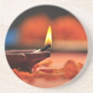 Holy lamp for Diwali festival Coaster