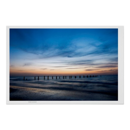 Holy Land Beach Sunset ,Israel Beach Posters