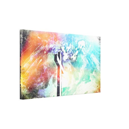 Holy Land Cross Grunge Art Wrapped Canvas Canvas Print