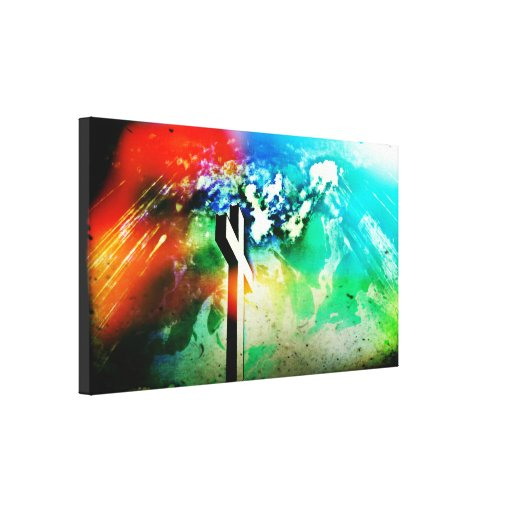 Holy Land Cross Grunge Wrapped Canvas Gallery Wrap Canvas
