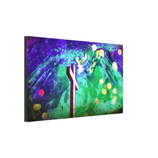 Holy Land Cross Sparkle Wrapped Canvas Stretched Canvas Prints