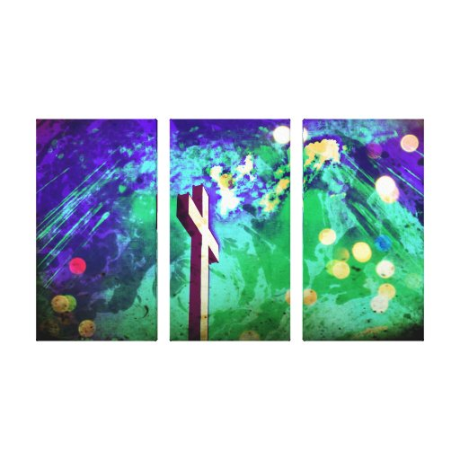 Holy Land Cross Sparkle Wrapped Canvas Prints