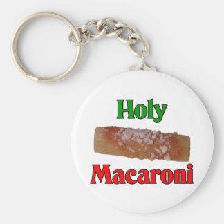 Holy Macaroni Basic Round Button Key Ring