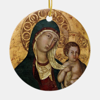 Holy Mary Mother of God Christmas Ornament