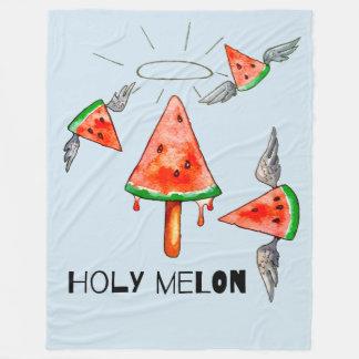 Holy melon fleece blanket