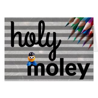 Holy Moley Greeting Card