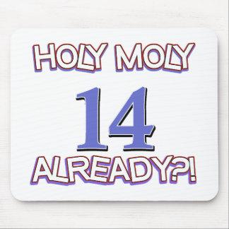 Holy Moly 14 already birthday Design Mouse Pad