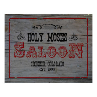 Holy Moses Saloon Poster