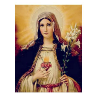 Holy Mother Mary immaculate heart Poster