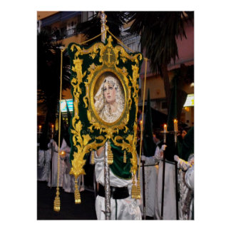 Holy Mother Mary, Palm Sunday, Marbella, Spain Poster