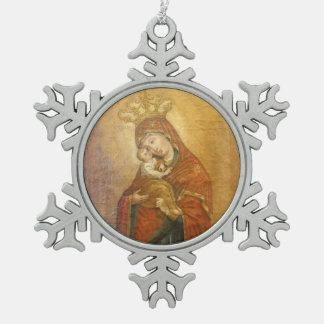 Holy Mother of Pochayiv Ukraine icon ornament