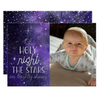 Holy Night Christmas Photocard Card