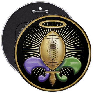 Holy NOLA Trophy (p) 6 Cm Round Badge