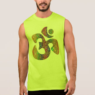 Holy OM - Ornament gold colored Sleeveless T-shirts