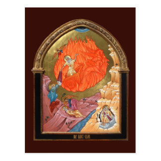 Holy Prophet Elijah Prayer Card Postcard
