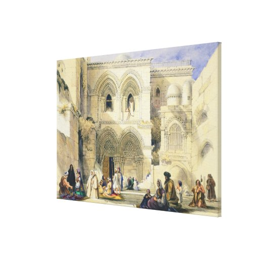 Holy Sepulchre, in Jerusalem (colour litho) Gallery Wrap Canvas