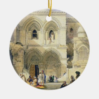 Holy Sepulchre, in Jerusalem (colour litho) Christmas Ornament