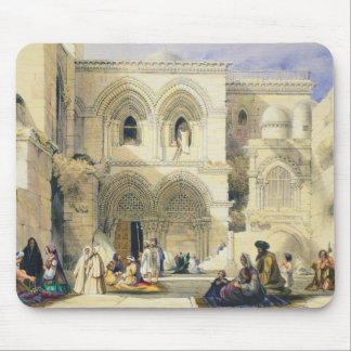 Holy Sepulchre, in Jerusalem (colour litho) Mouse Mat