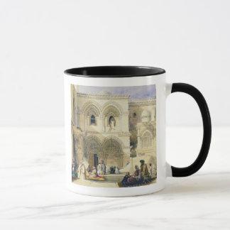 Holy Sepulchre, in Jerusalem (colour litho) Mug