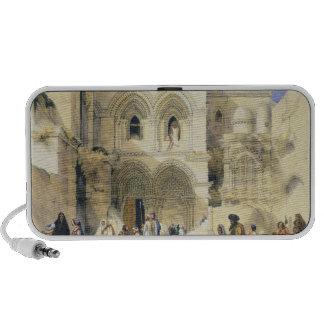 Holy Sepulchre, in Jerusalem (colour litho) Travelling Speaker