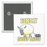 holy sheep balls funny unraveling yarn sheep 15 cm square badge