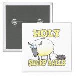 holy sheep balls funny unraveling yarn sheep badge