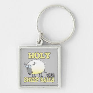 holy sheep balls funny unraveling yarn sheep key chain