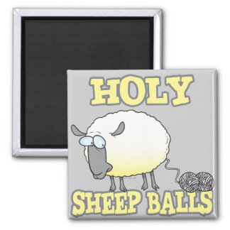 holy sheep balls funny unraveling yarn sheep magnet