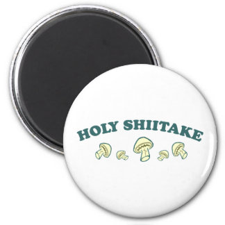 Holy Shiitake Fridge Magnet