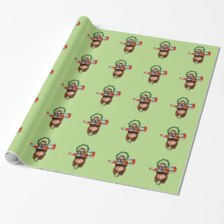 holy sloth wrapping paper