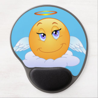 Holy smiley on the cloud gel mouse pad