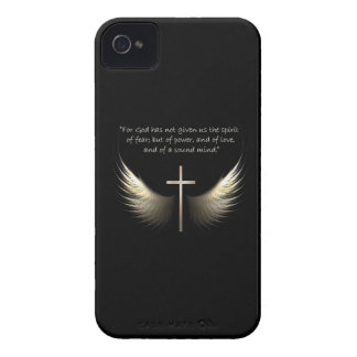 Holy Spirit and Christian Cross and Scripture Text iPhone 4 Cases