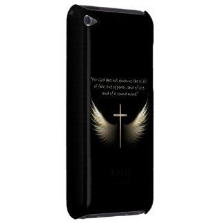 Holy Spirit and Christian Cross with Bible Verse Barely There iPod Cover