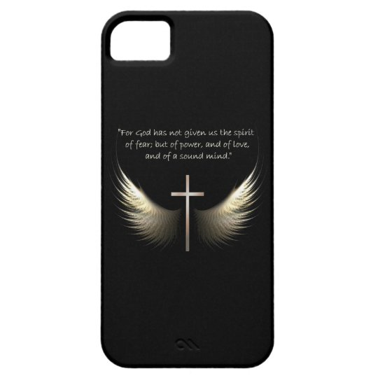 Holy Spirit and Christian Cross with Bible Verse