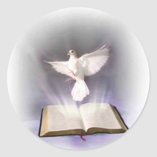 Holy Spirit Classic Round Sticker