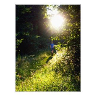 Holy spirit descending (sun flare) photo print