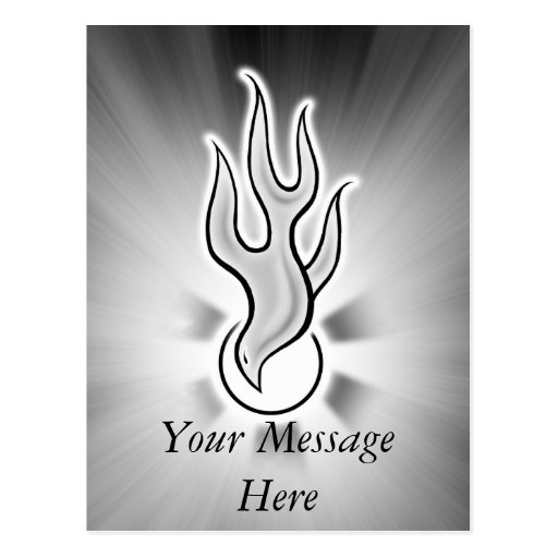 Holy Spirit Dove Flame Design Post Card