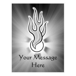 Holy Spirit Flame Dove Design Postcards