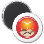Holy Spirit Pentecost 6 Cm Round Magnet