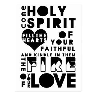 Holy Spirit Prayer Postcard