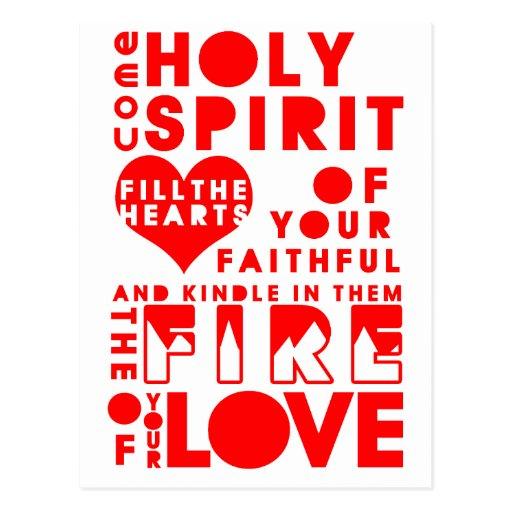 Holy Spirit Prayer Post Card
