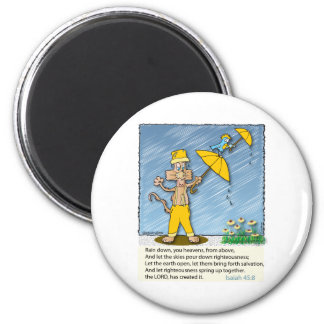 Holy Spirit Raining Down on the Earth. 6 Cm Round Magnet