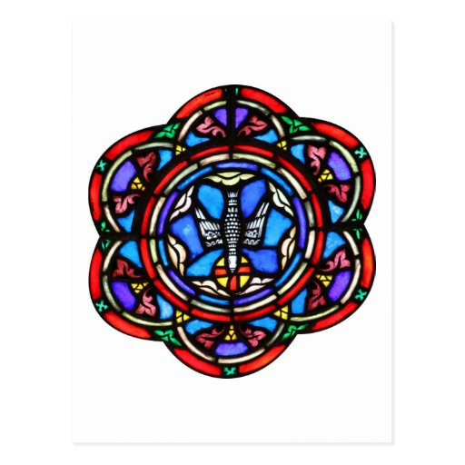 Holy Spirit Stained Glass Ar Post Cards