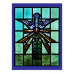 Holy Spirit Stained Glass Art Post Cards