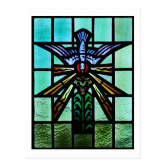 Holy Spirit Stained Glass Art Postcards
