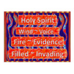 Holy Spirit `~ Wind, Fire, Filled Postcards
