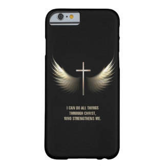 Holy Spirit Wings and Christian Cross Personalized Barely There iPhone 6 Case