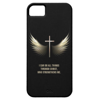 Holy Spirit Wings and Christian Cross Personalized iPhone 5 Covers